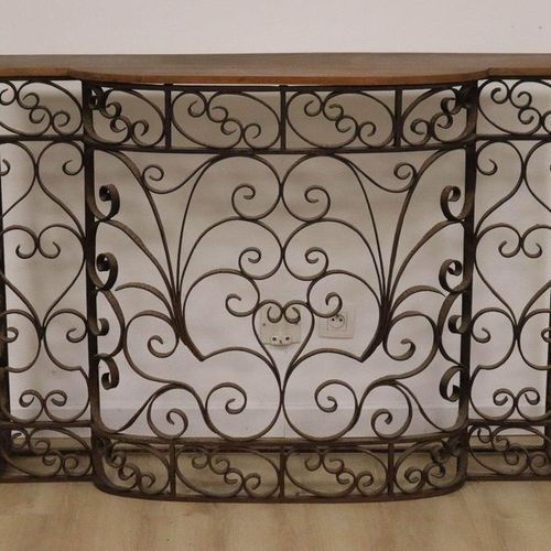 GRILLE DE RADIATEUR RADIATOR GRID which can form a wrought iron console with cen…