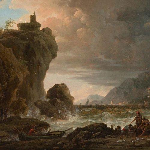 Pierre Henri de VALENCIENNES (Toulouse 1750 Paris 1819) Fishermen at the seaside…