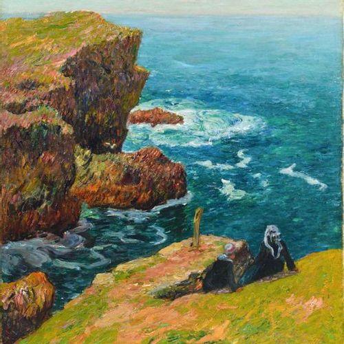 Henry MORET (1856 1913) La côte de Moëlan, Finistère 1896 Oil on canvas. Signed …