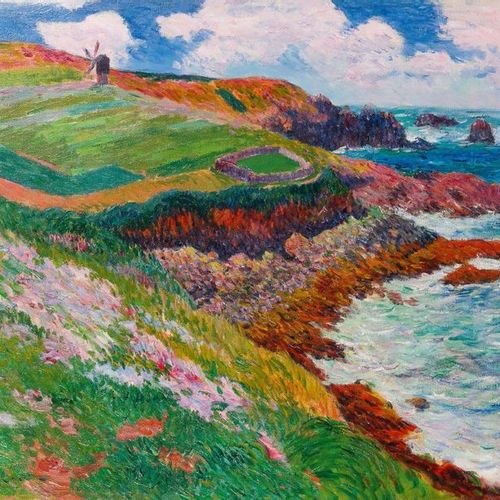 Henry MORET (1856 1913) Lampaul Bay, Ushant 1895 Oil on canvas. Signed and dated…