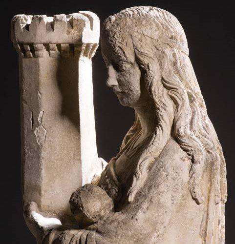 École brabançonne, atelier des Borman, vers 1480 1510 Sainte Barbe Strong limest…