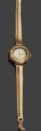 Lady's watch in yellow gold Pb: 20,44gr