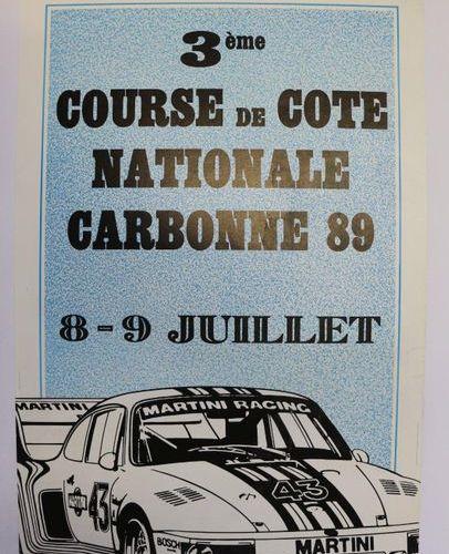 Carbone 1989. Affiche entoilée. 56,5x38cm