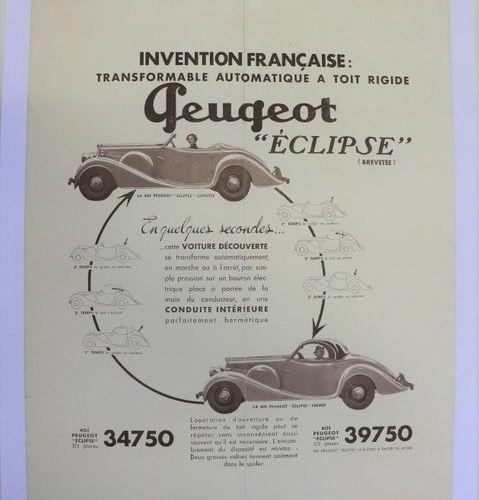 Peugeot Eclipse. Affiche entoilée. 66x50cm