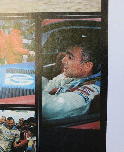 Ferrari Pionner, Tour Auto, rouge. Affiche entoilée. 80x61cm