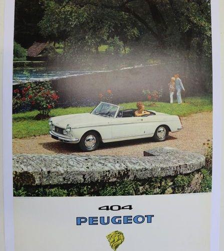 Peugeot 404 cabriolet. Affiche entoilée. 91,5x63cm