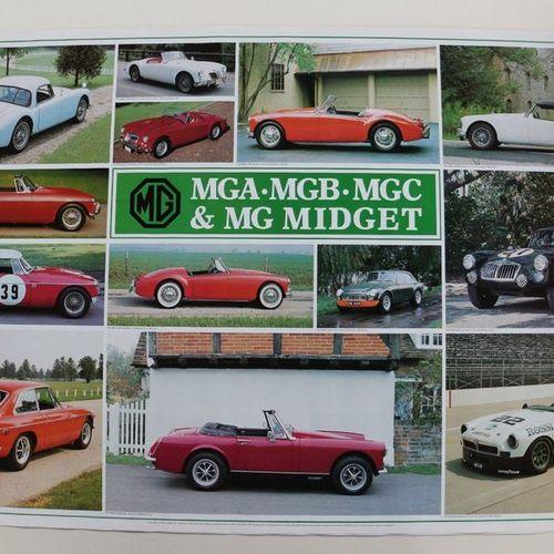 MG/MGA/MGB/MGC et MG Midjet. Poster non entoilé. 61x91cm