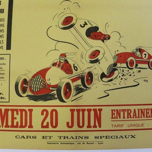 Charbonnières les Bains, Midgets. Canvas poster. 80x60cm