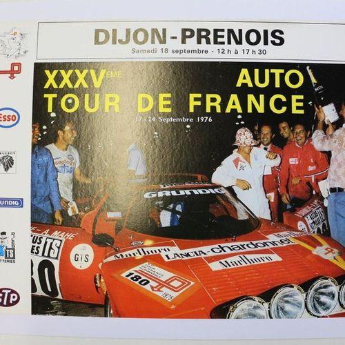 XXXV Tour Auto, Lancia Stratos. Affiche entoilée. 56x43cm