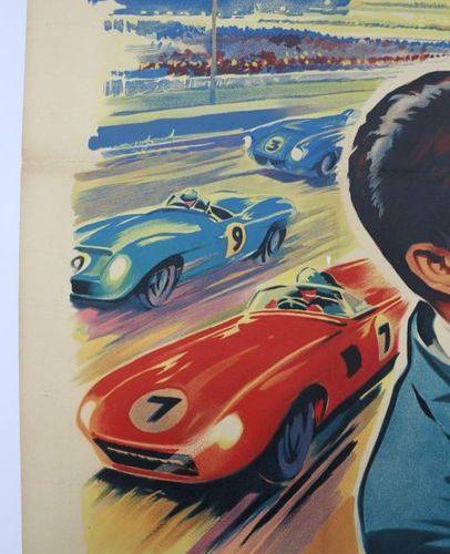L'amour en 4eme vitesse avec Elvis Presley. Affiche entoilée. 120x160cm