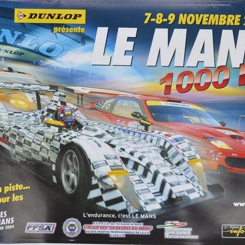 Lot de 16 affiches: Le Mans 1.000 km 2003