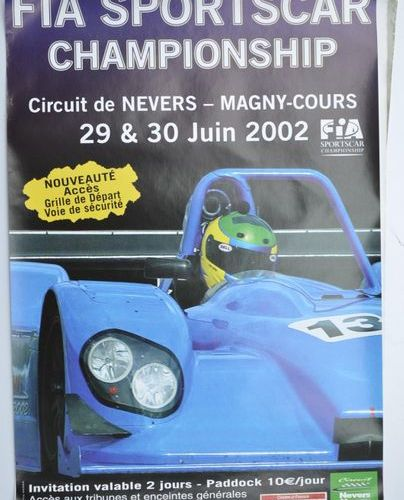 Batch of 9 various posters including Nogaro, Magny Cours, etc.