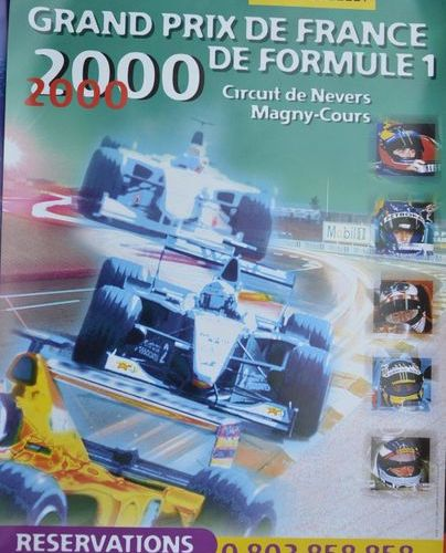 Lot de 5 affiches: Grand Prix F1 d'Italie à Monza 1997 + Grand Prix F1 de France…