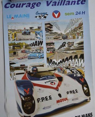 Lot de 8 affiches: 90 ans des 24 Heures du Mans (18 juin 2013) + Petit Le Mans à…