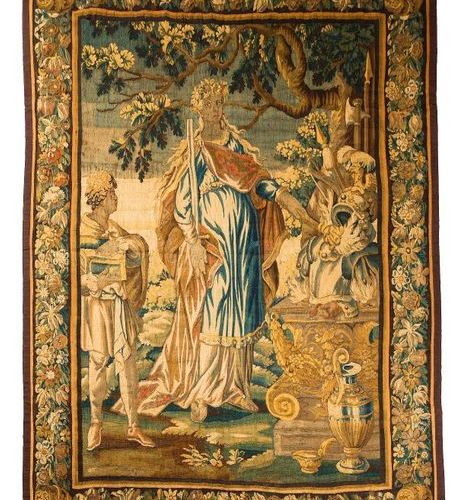 AUBUSSON  Aubusson tapestry, early 18th century.  Eirene  Daughter of Zeus and T…