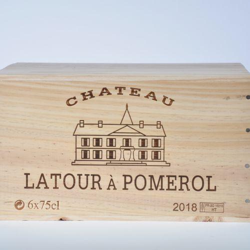 Château Latour à Pomerol 2018 Lot d'une caisse bois de 6 bouteilles, Bordeaux, P…