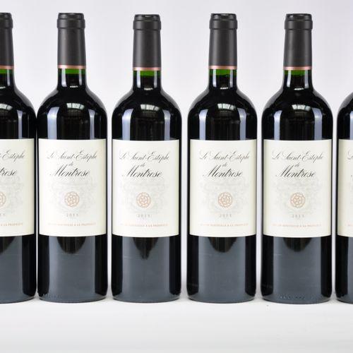 Le Saint Estèphe de Château Montrose 2015 Lot d'une caisse de 6 bouteilles, Bord…