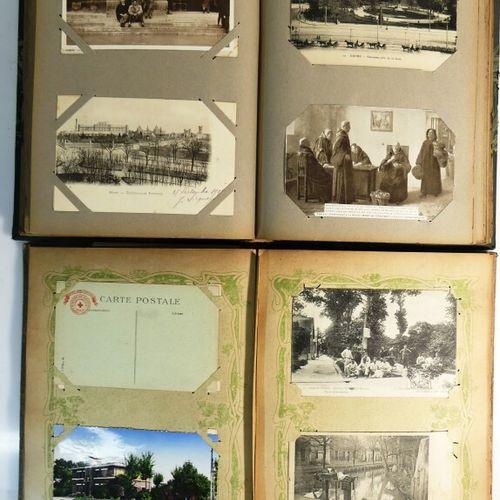 Réunion de 2 album de cartes postales (269 env). La Marne. 51.