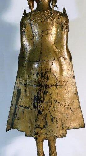 Thaïlande. Bouddha en bronze. Haut : 75 cm.