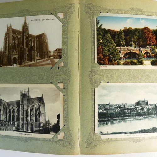 Album de cartes postales (181 env). La Moselle. 57. Joints boite de cartes posta…
