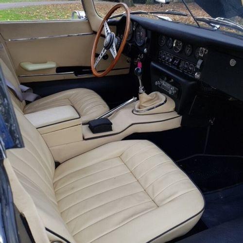 Jaguar E Type 4.2L 1969. Compteur en miles (13203) Moteur after market 3.8L 3 ca…