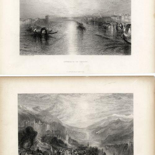 Antiquités, Varia, Landscapes by Turner / Seven steel engravings 1850 60,sheet s…