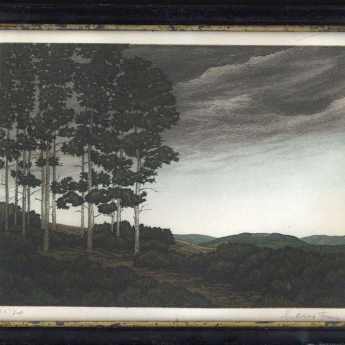 Antiques, Varia, Modern Print, Glade, 23 x 28,5 cm. 11/200. Signé au crayon en b…