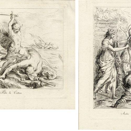 Antiquités, Varia, Sept gravures sur cuivre d'après des peintures italiennes, di…