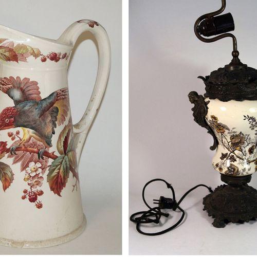 Antiquités, Varia, pied de lampe Biedermeier, pied de lampe. H. 48 cm. Corps en …