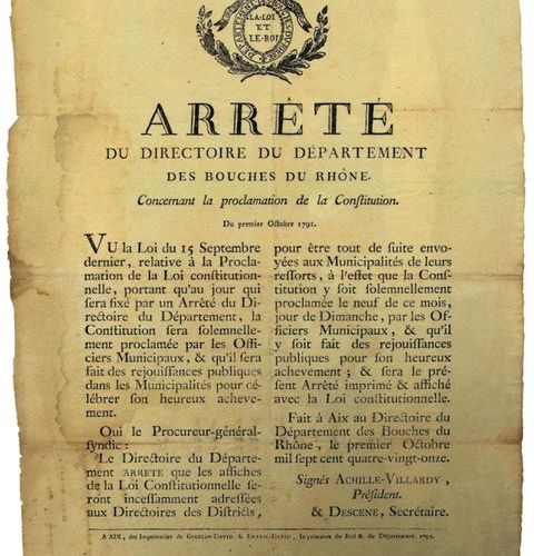 """MOUTH OF THE THRONE. 1791. PROCLAMATION OF THE CONSTITUTION. """"Order of the Execu…"""