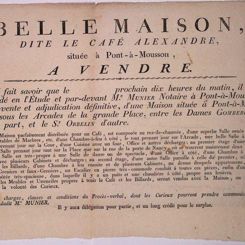 "MONSOON BRIDGE (54). COFFEE. BILLARD: Poster ""Beautiful House, called LE CAFÉ AL…"