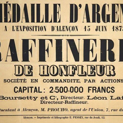 CALVADOS. ORNE. «RAFFINERIE DE HONFLEUR, Société en commandite par actions. Capi…