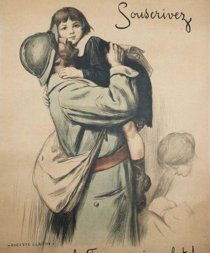 """Auguste LEROUX """"POUR LA FRANCE QUI COMBAT!, Pour celle qui chaque jour grandit !…"""