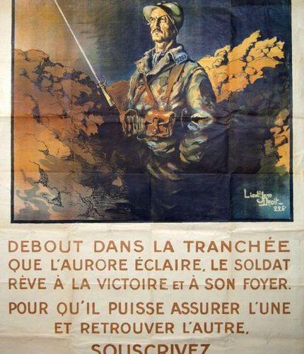 Lieutenant Jean DROIT «DEBOUT DANS LA TRANCHÉE que l'aurore éclaire, le soldat r…