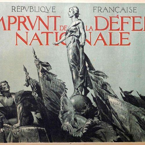 A. LELONG. 1917 «3ème EMPRUNT de la Défense Nationale» 1917 Imp. DRAEGER Affiche…