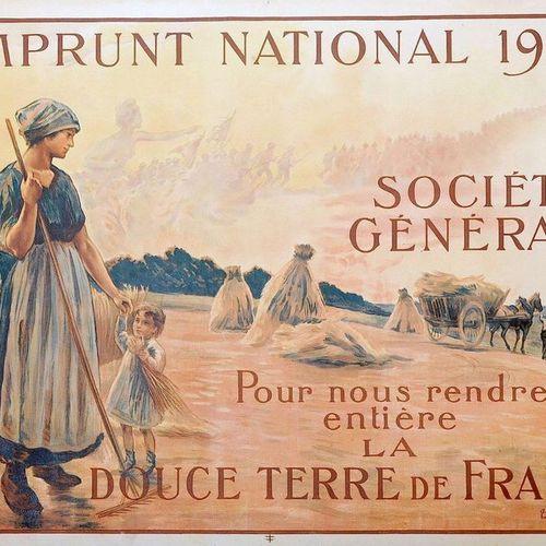 """B. CHAVANNAZ. """"POUR NOUS RENDRE ENTIÈRE LA DOUCE TERRE DE FRANCE"""" Emprunt Nation…"""