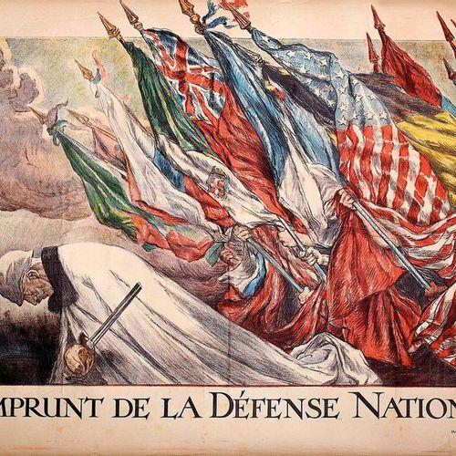 Abel FAIVRE. «4ème EMPRUNT DE LA DÉFENSE NATIONALE» Imp. Champenois Paris (Soumi…