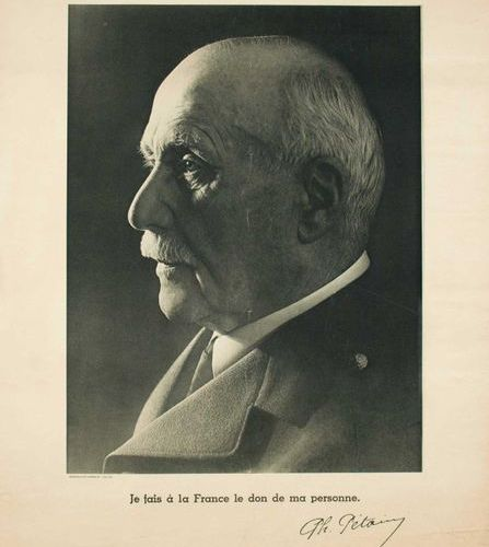 MARÉCHAL PÉTAIN Head of the French State (Very large black and white photo of Pr…