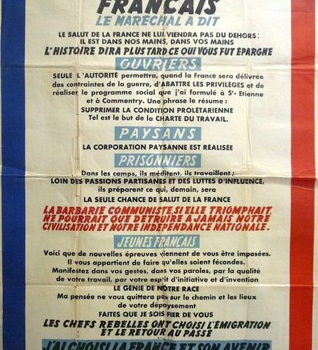 """""""On April 4, 1943, THE FRENCH MARCHAL (PÉTAIN) SAID: The salvation of France wil…"""