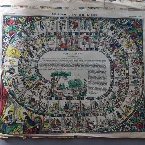 EPINAL: Réunion de 9 grandes planches en couleurs, principalement époque XIXe et…