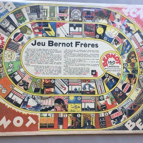 JEUX de l'OIE PUBLICITAIRE: Jeu BERNOT Frères. Plateau de jeu en carton, format …