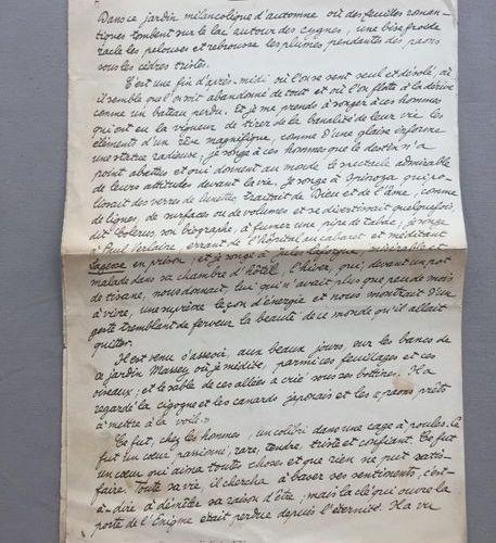"""Tristan DEREME: Manuscrits autographes de deux textes publiés dans """"les Ecrivain…"""