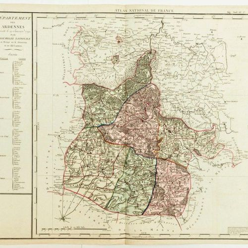 """CARD of 1790: """"Department of the ARDENNES decreed on 19 January 1790 by the Nati…"""
