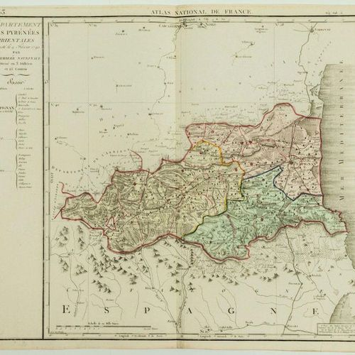 "CARD OF 1790: ""Department of the EASTERN PYRENEES, decreed on 9 February 1790 by…"