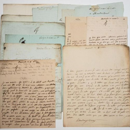 MARNE. LE BOULLANGER D'ORSAY at the Château de BOURSAULT (51). 17 Letters and co…