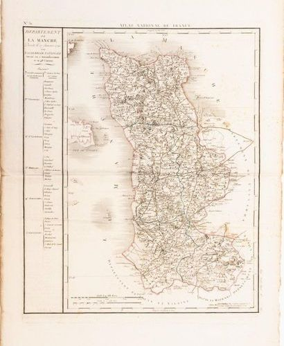 Map of the Department of LA MANCHE, decreed on 27 January 1790 by the National A…