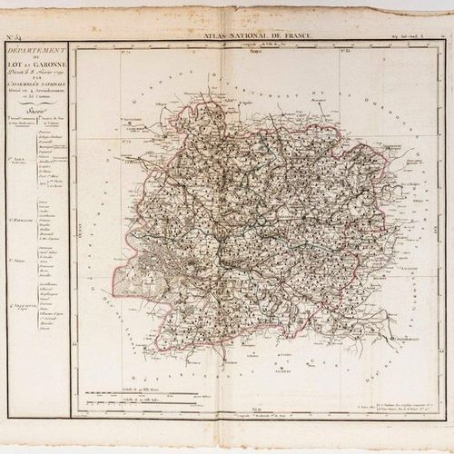 Map of the Department of LOT ET GARONNE, decreed on 8 February 1790 by the Natio…