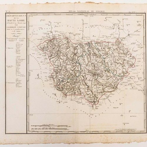 Map of the Department of HAUTE LOIRE, decreed on January 29, 1790 by the Nationa…