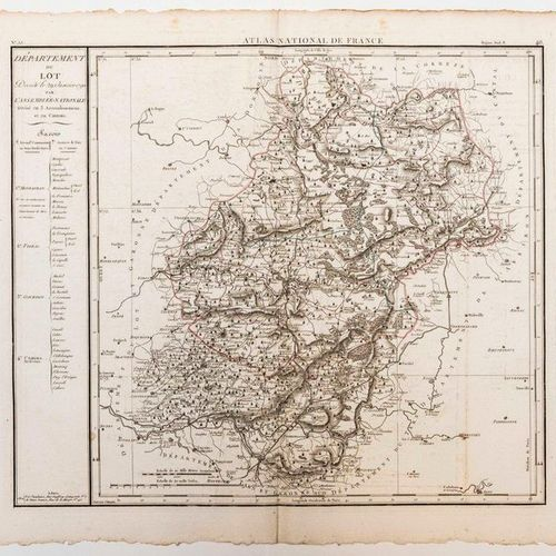 Map of the Department of LOT, decreed on January 29, 1790 by the National Assemb…