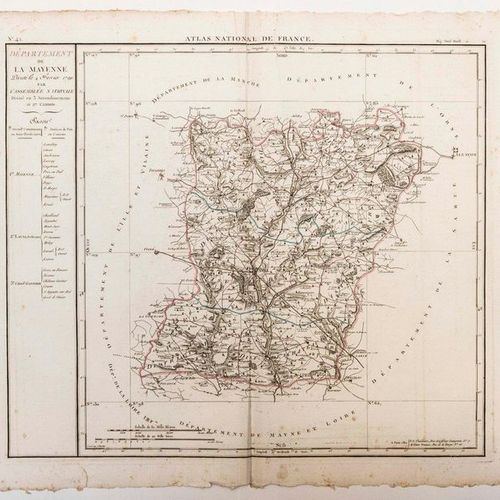 Map of the Department of LA MAYENNE, decreed on February 4, 1790 by the National…